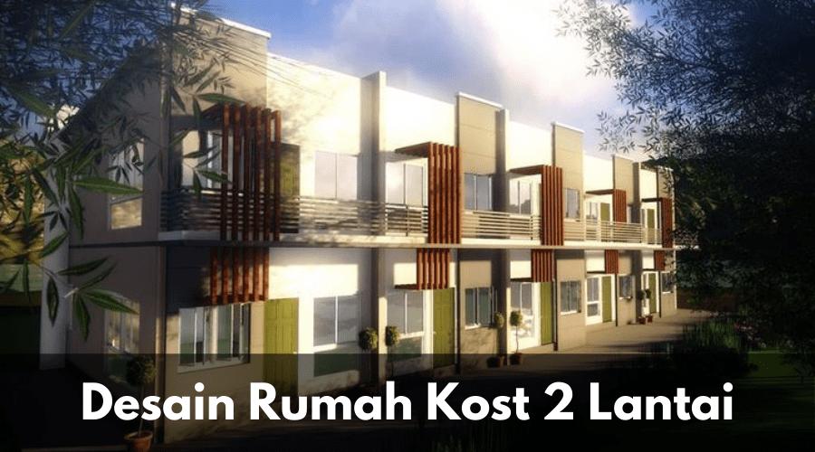 Desain Rumah kost 2 lantai